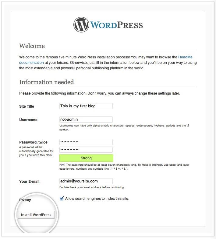 intro wordpress